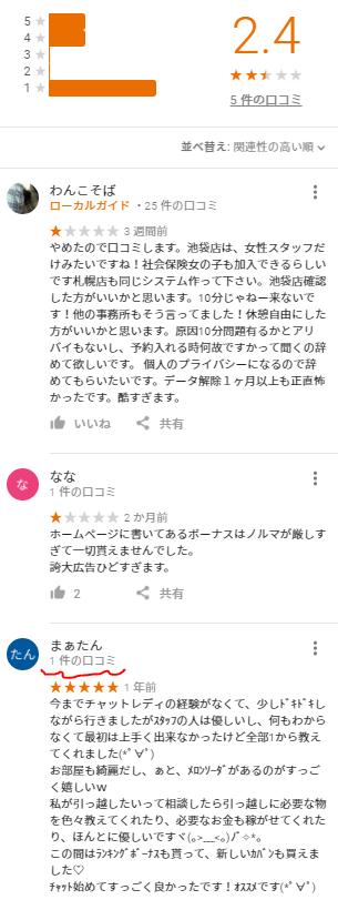 チャットレディちょこ札幌の口コミは悪い