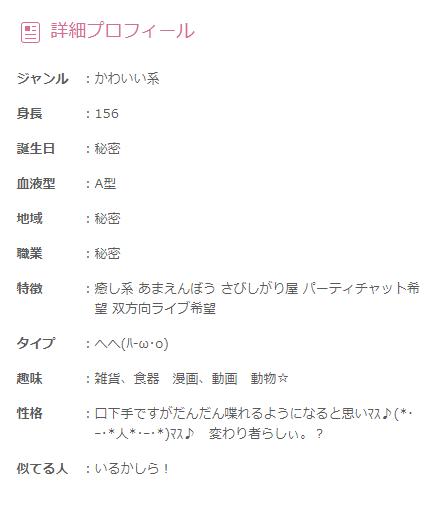 DMM みぃ子ちゃん プロフィール