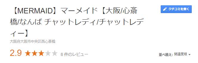 マーメイド レビュースコア 口コミGoogle
