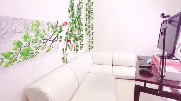 壁紙が白いチャットルーム